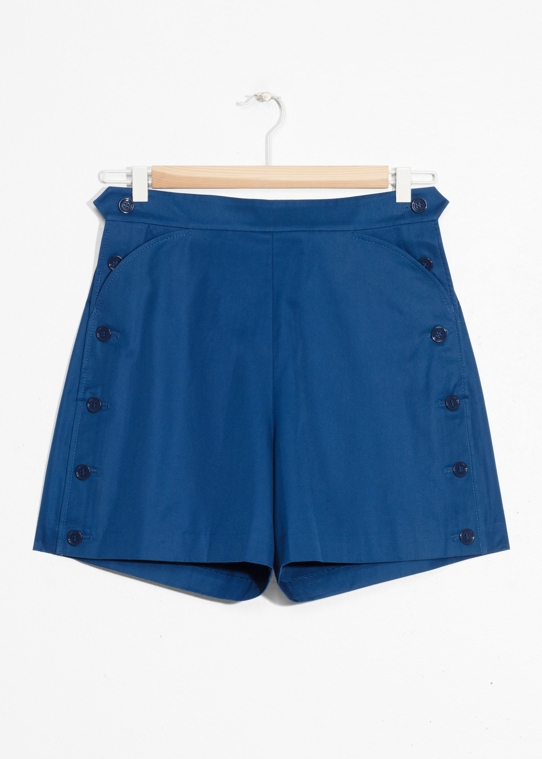 High Waisted Button Shorts