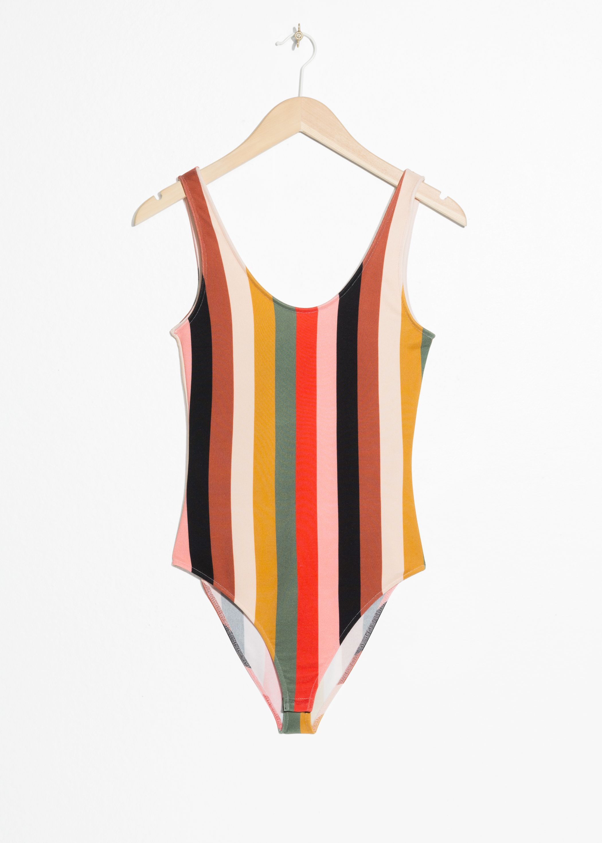 Striped Scoop Bodysuit