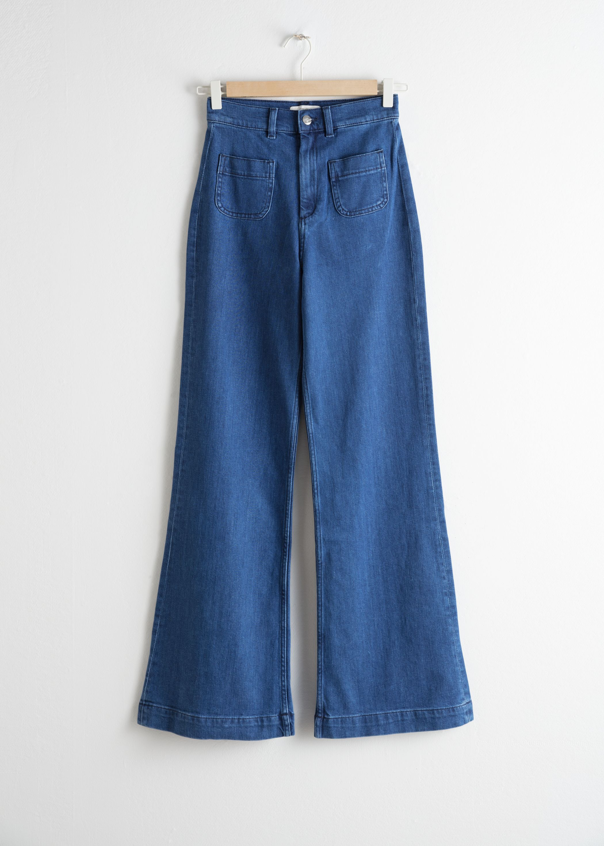 Flared Mid Rise Jeans