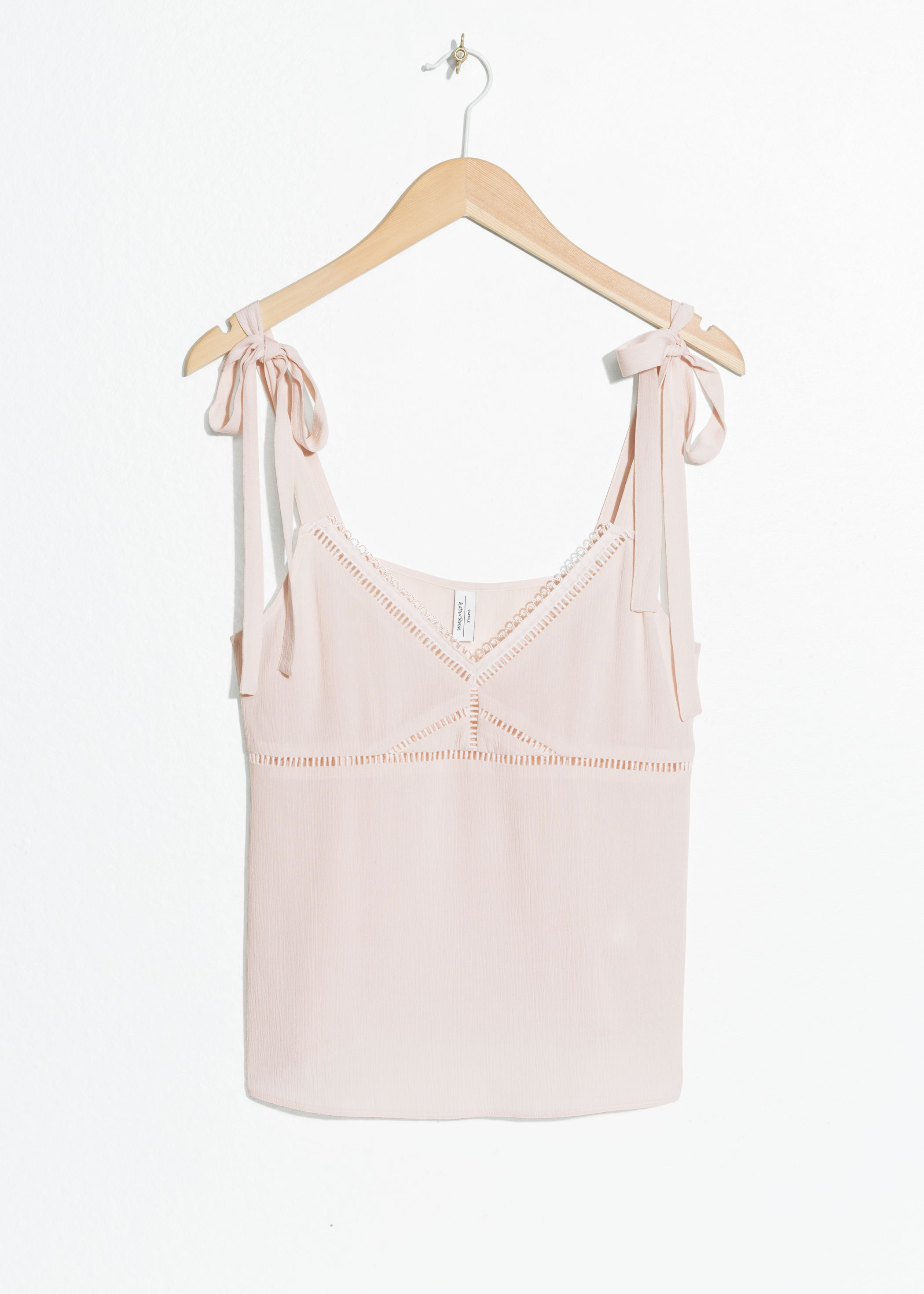 Ribbon Trimmed Tank Top