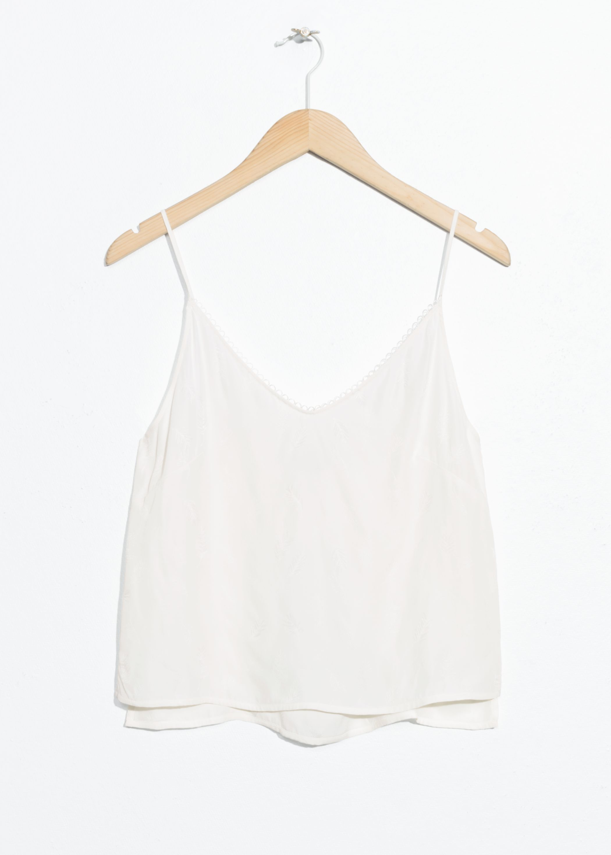 Scallop Ribbon Tank Top