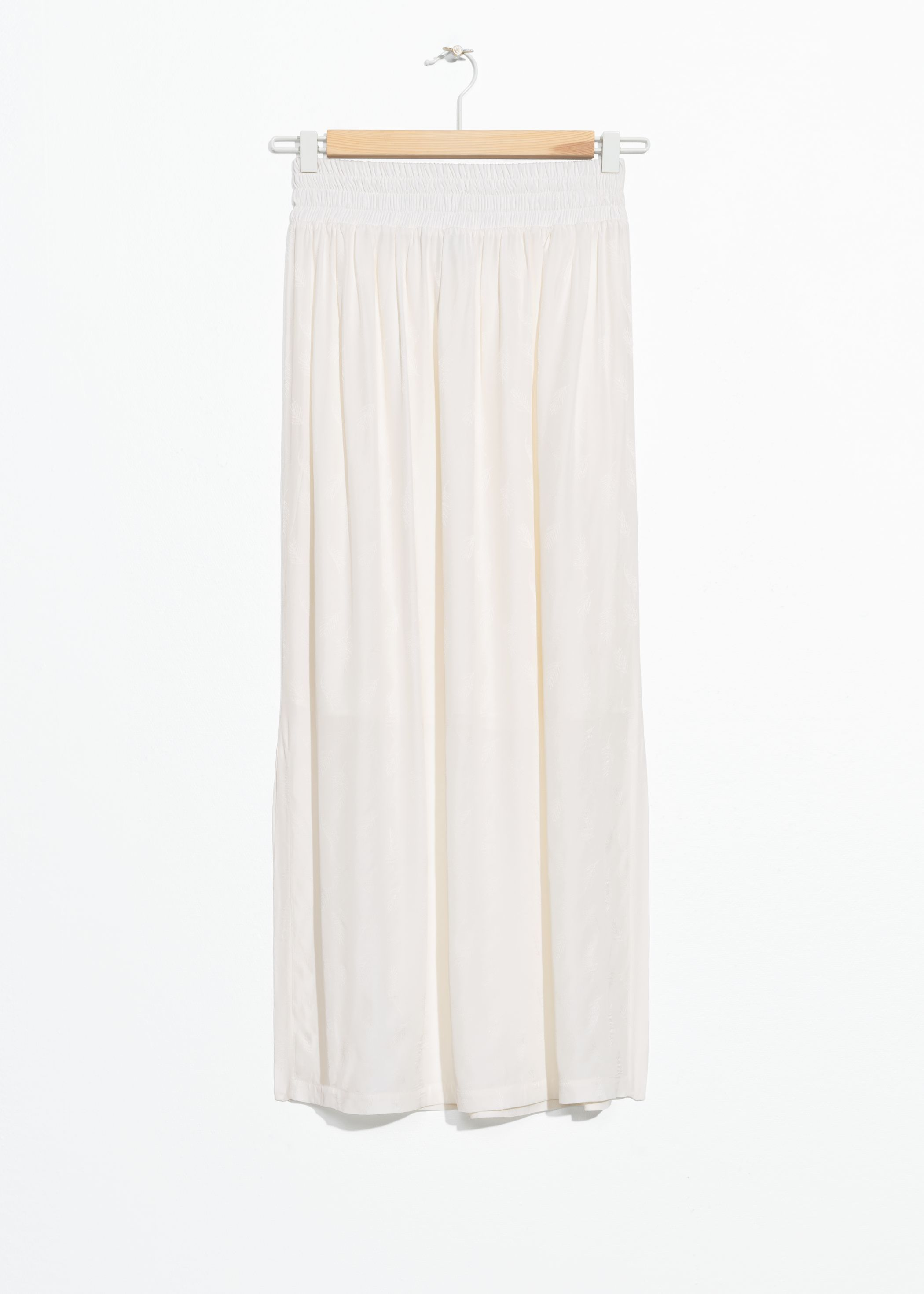 Elasticated Jacquard Midi Skirt