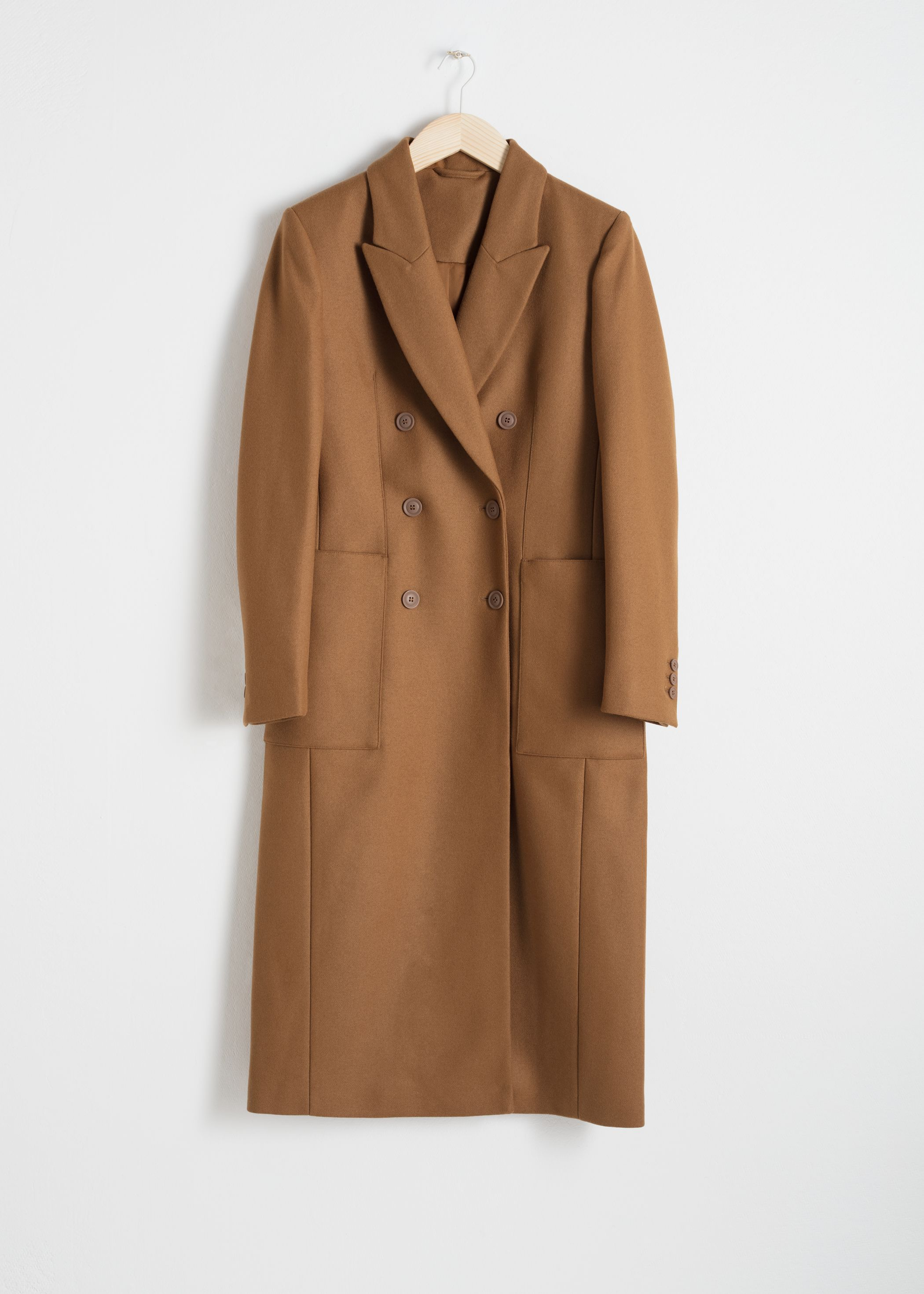 Structured Wool Blend Coat