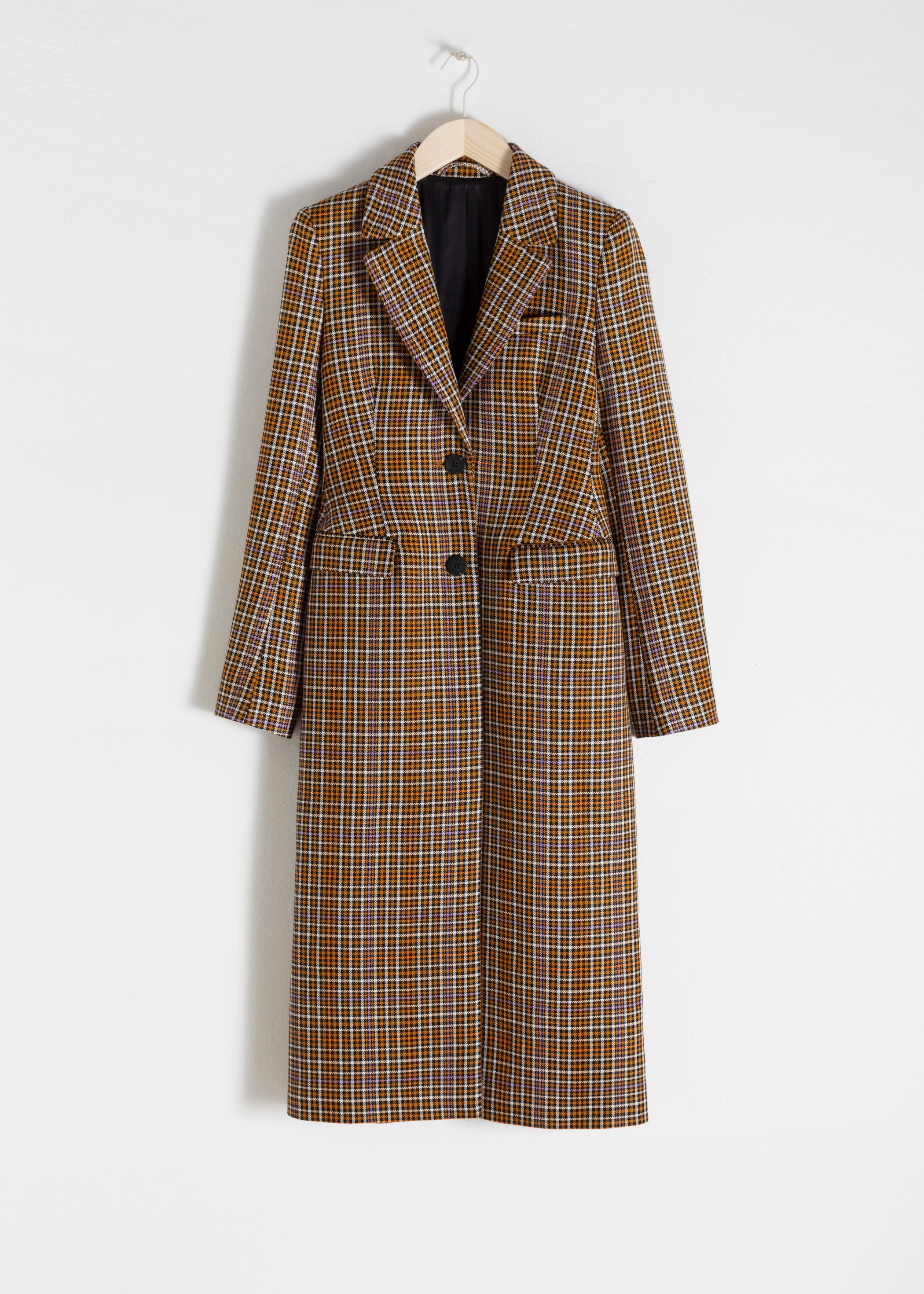 Plaid Hourglass Coat