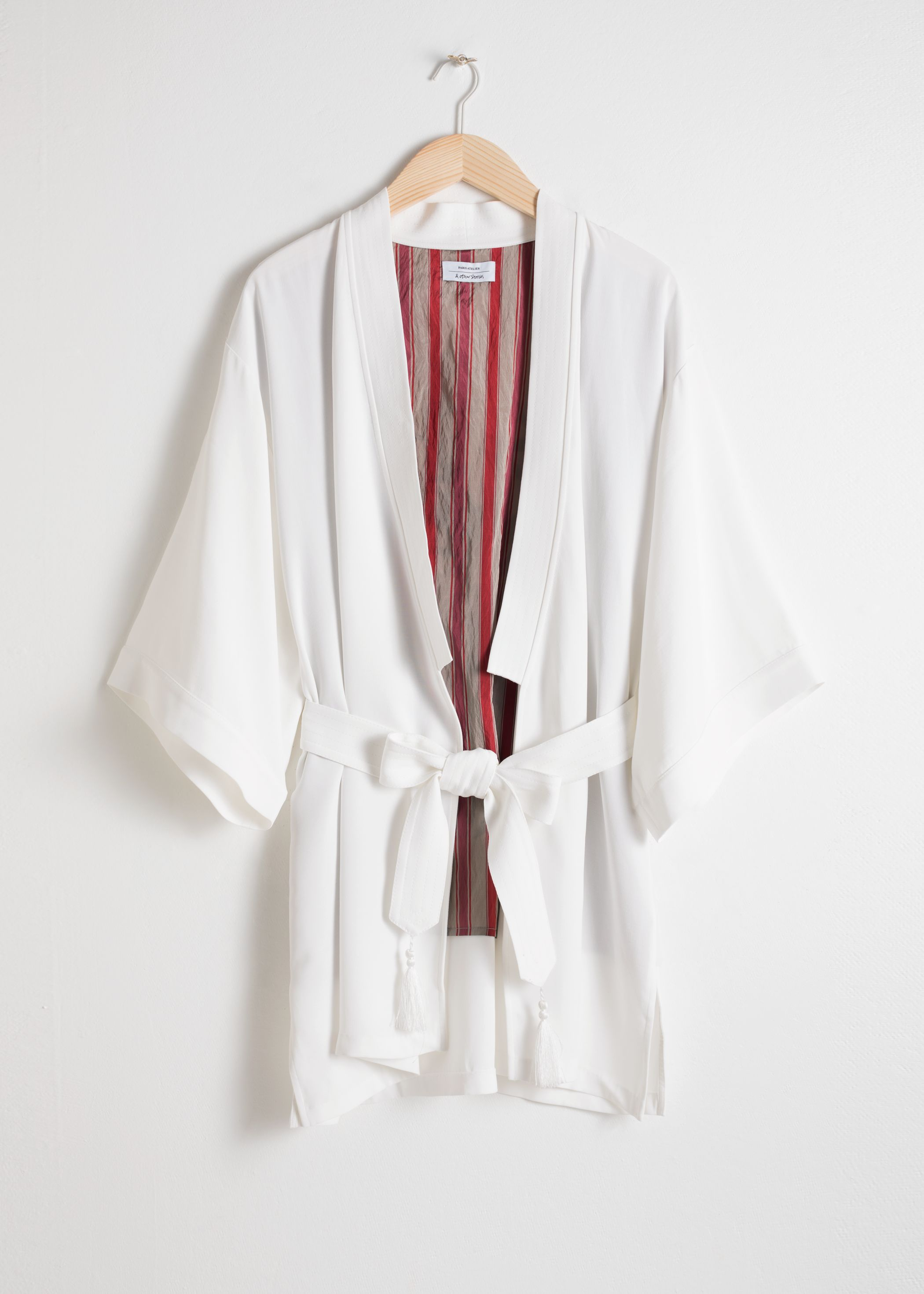 Embroidered Belted Kimono Jacket
