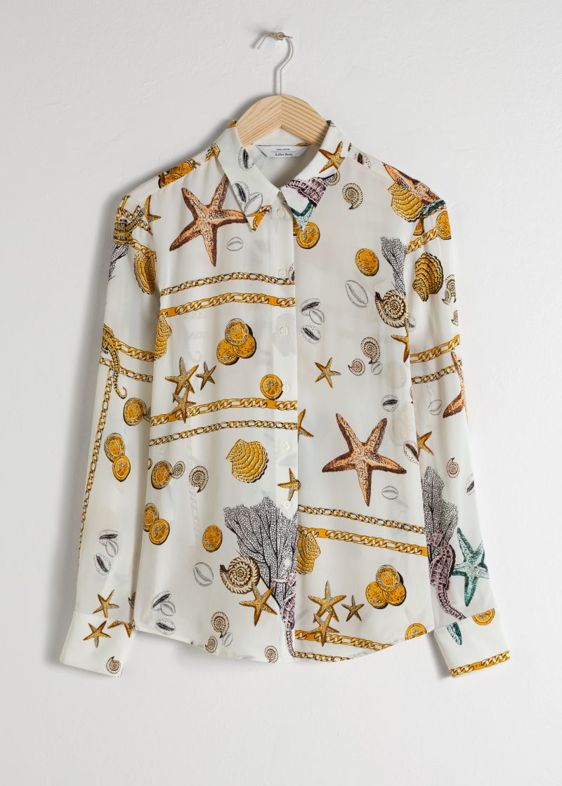 Seashell Button Up Shirt
