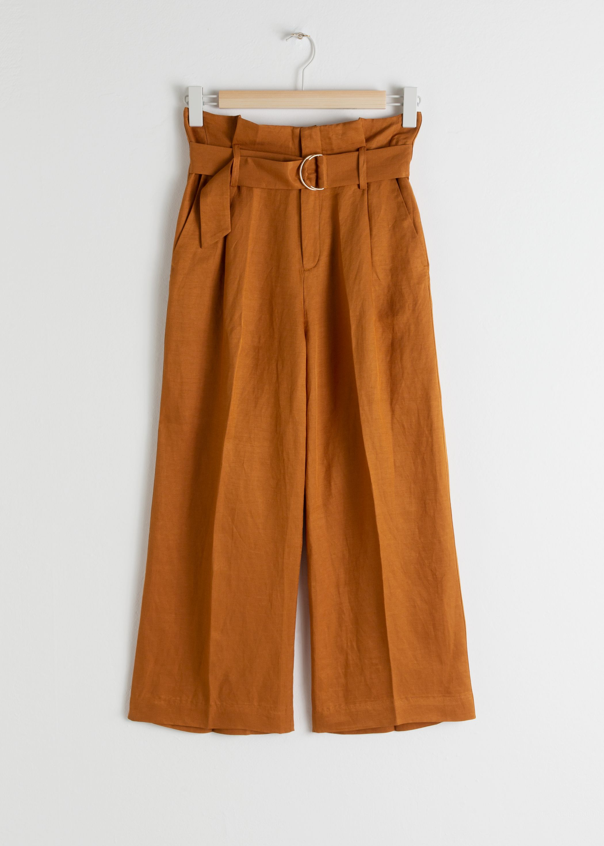 Cropped Paperbag Waist Trousers