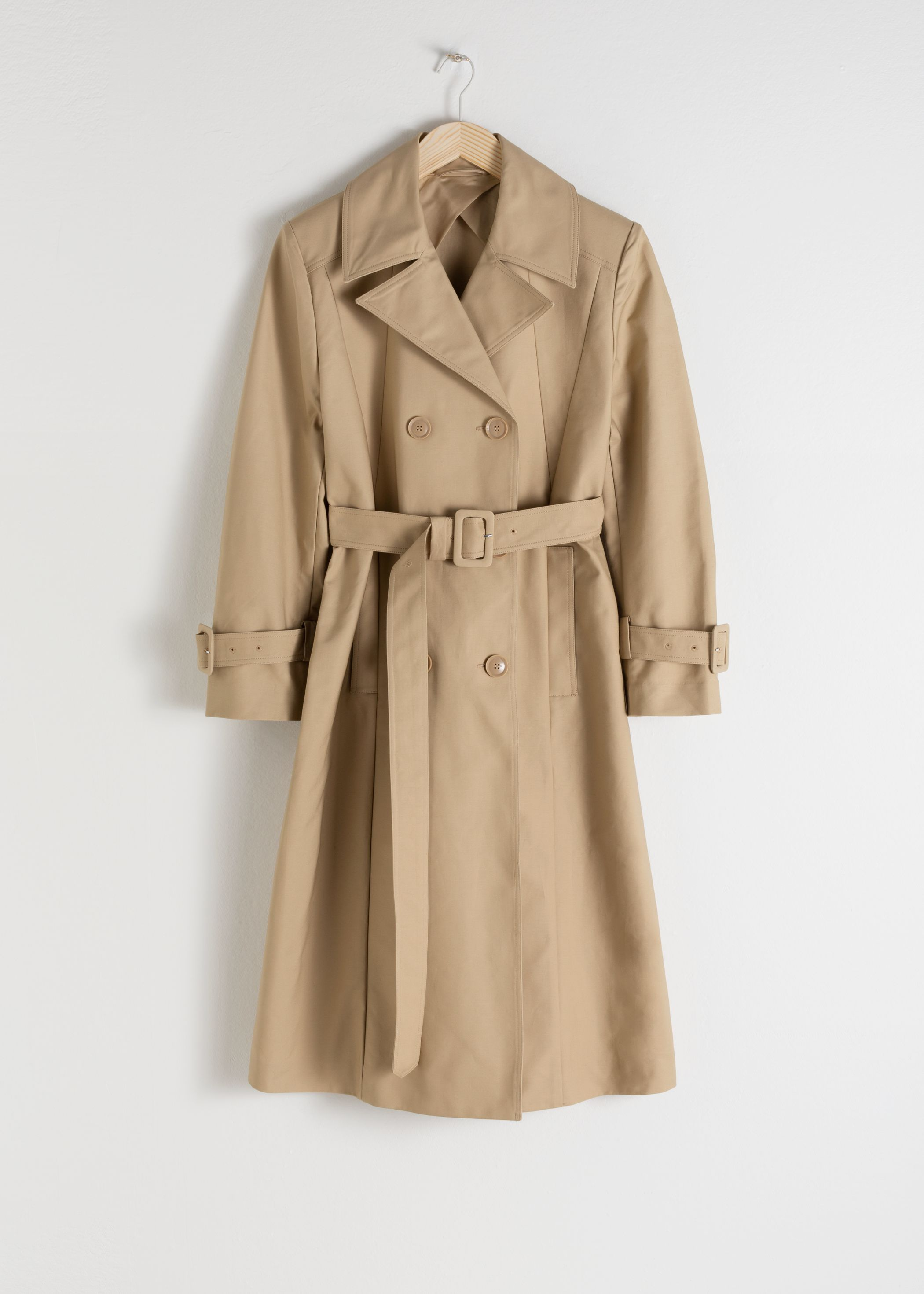 Belted A-Line Trenchcoat