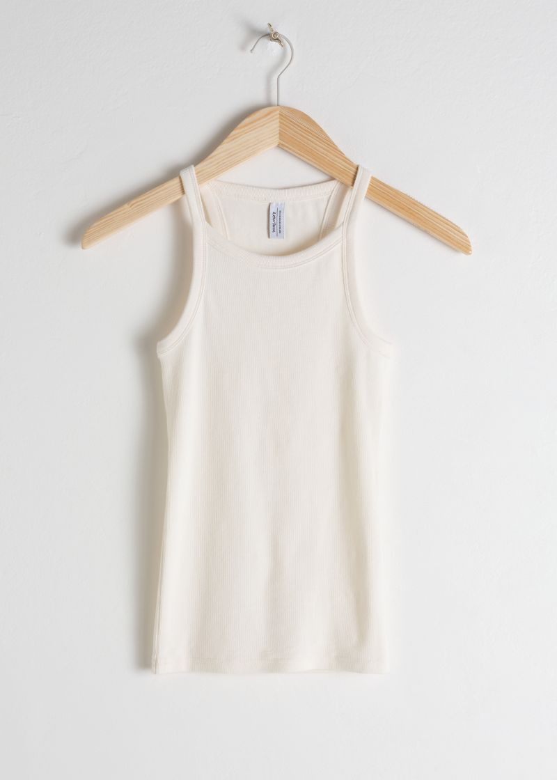 Racer Cut Cotton Tank Top