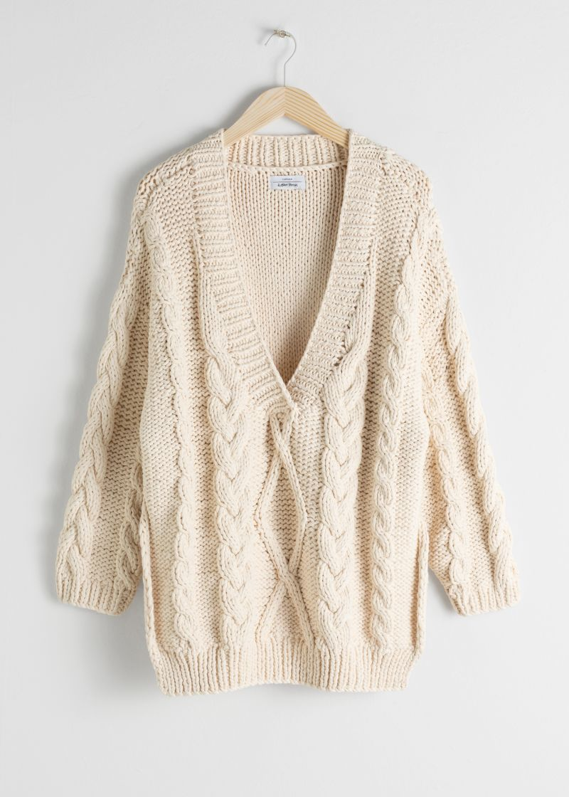 Organic Cotton Cable Knit Sweater