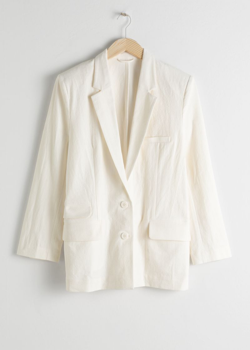 Oversized Cotton Linen Blazer