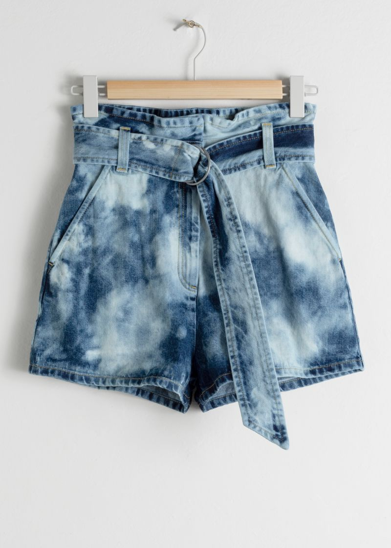 Tie Dye Organic Cotton Denim Shorts