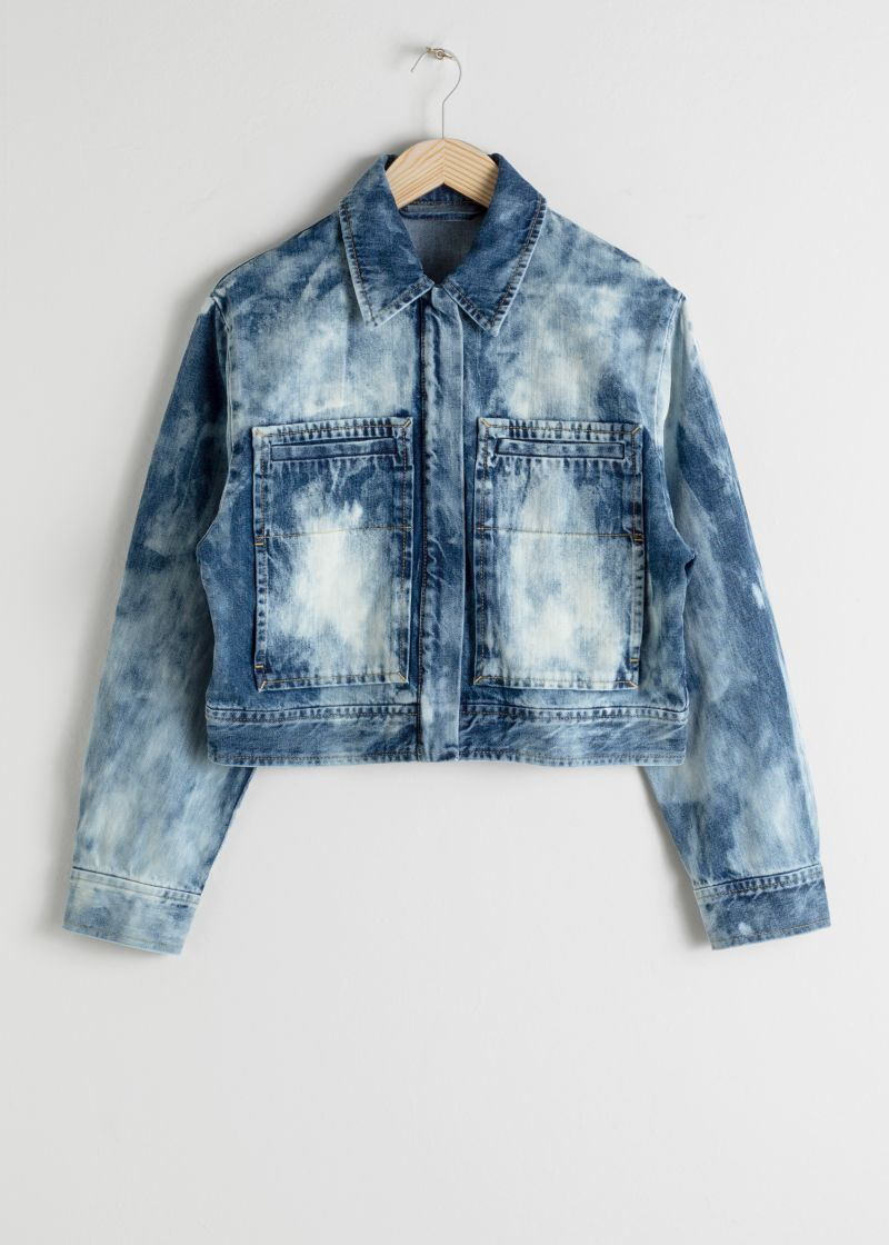 Tie Dye Organic Cotton Denim Jacket