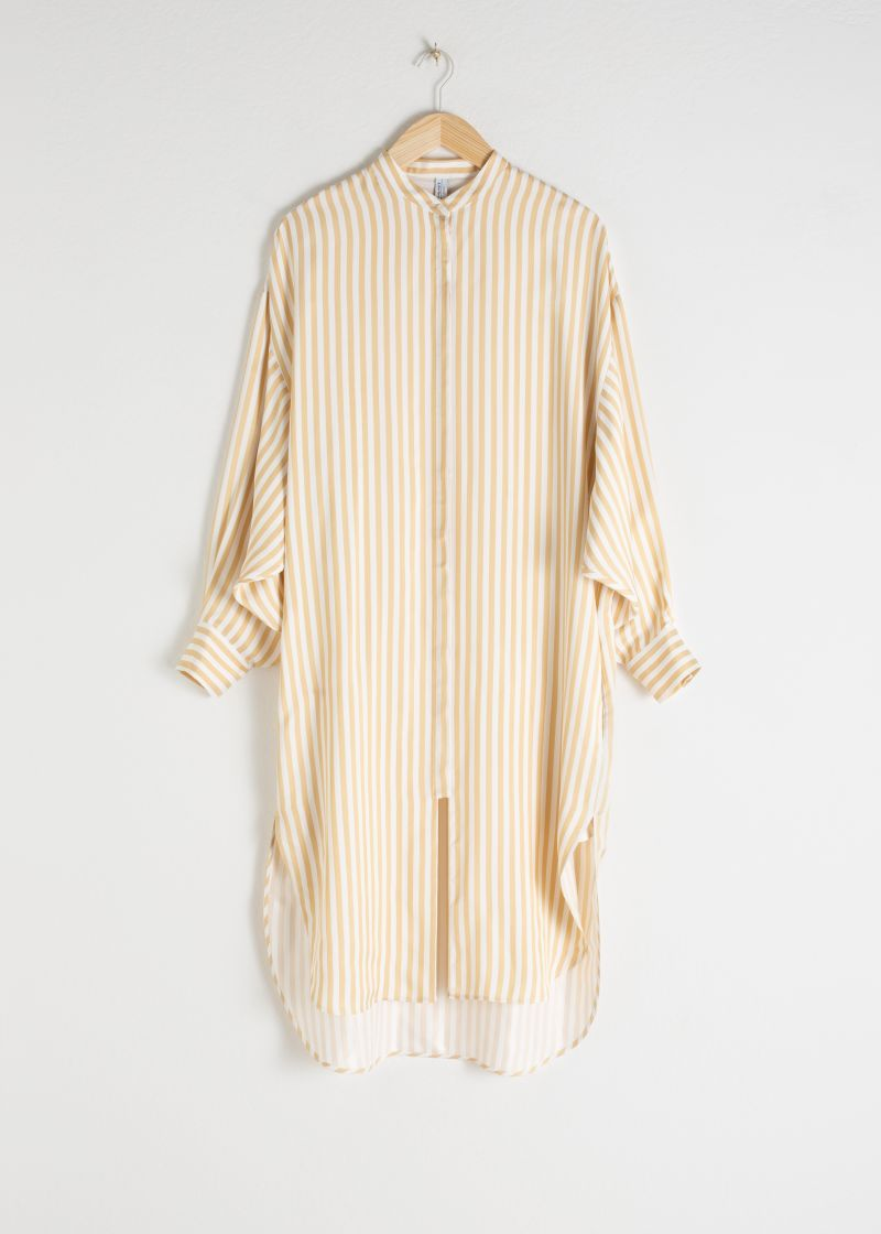 Striped Button Up Kaftan