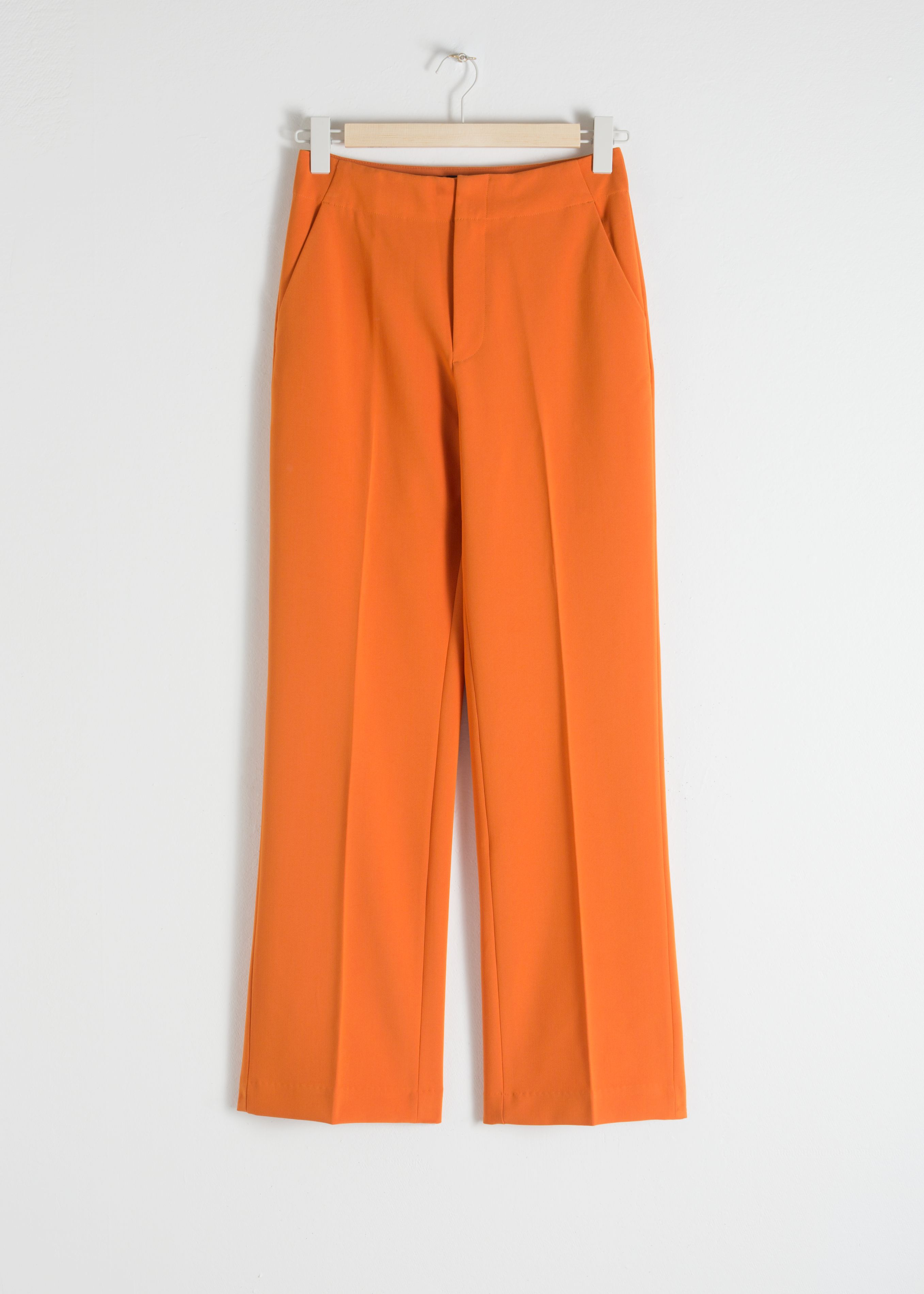 Mid Rise Tailored Pants