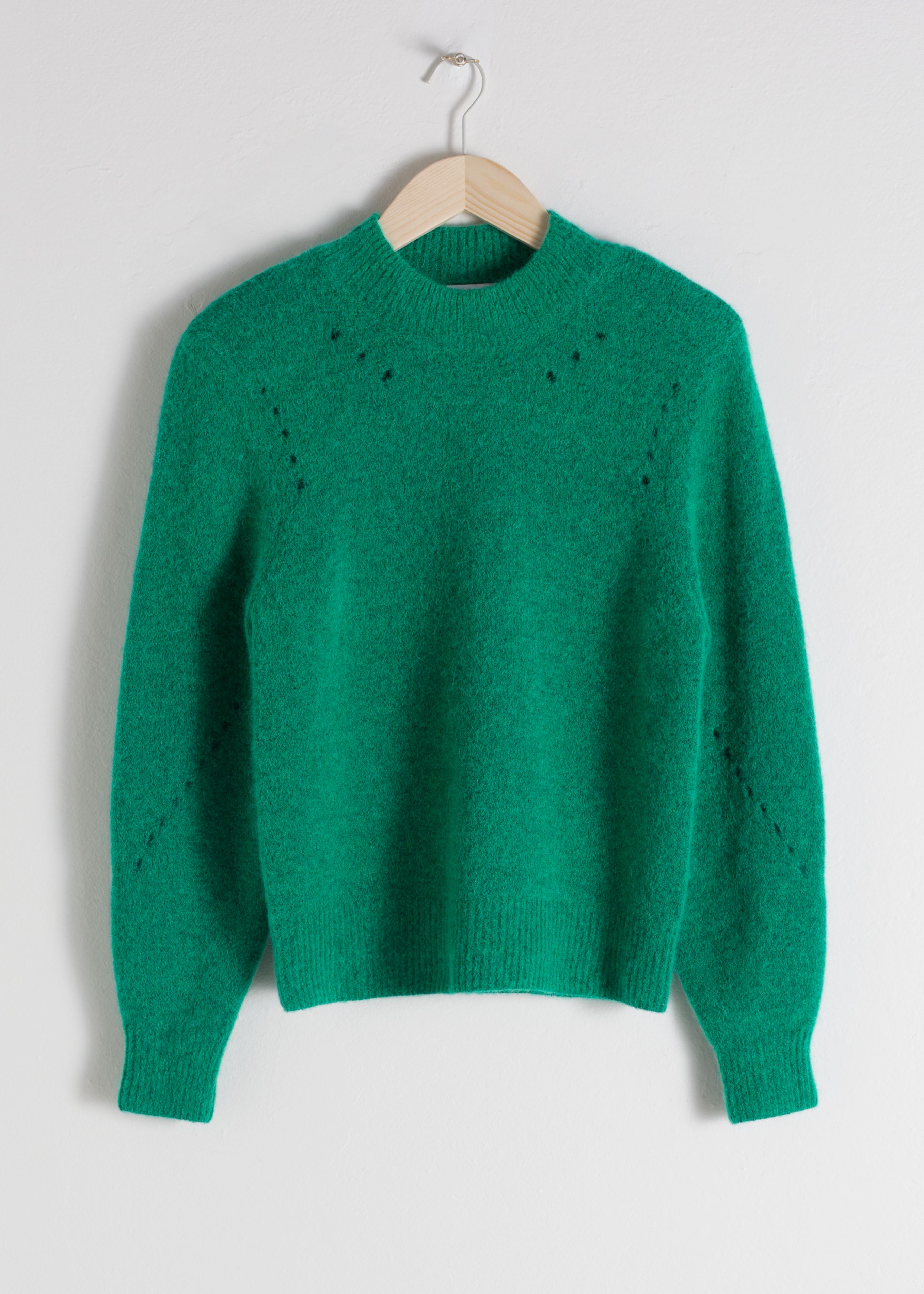 Structured Alpaca Wool Blend Sweater