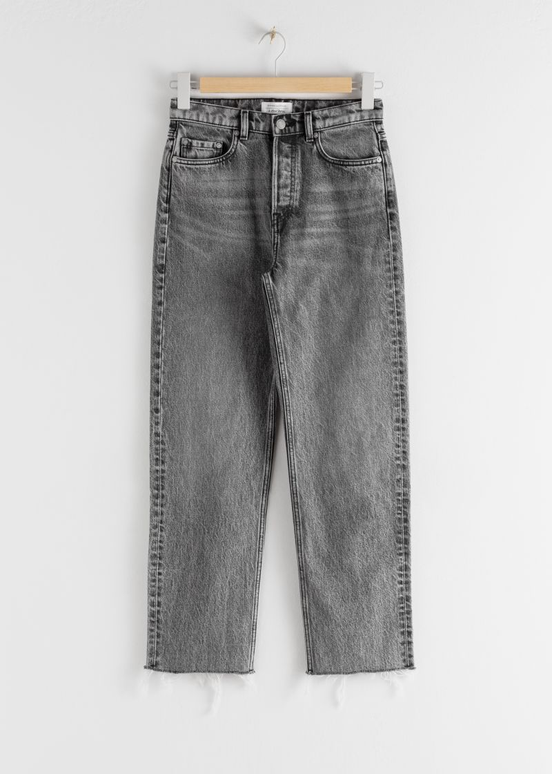 Straight Mid Rise Jeans