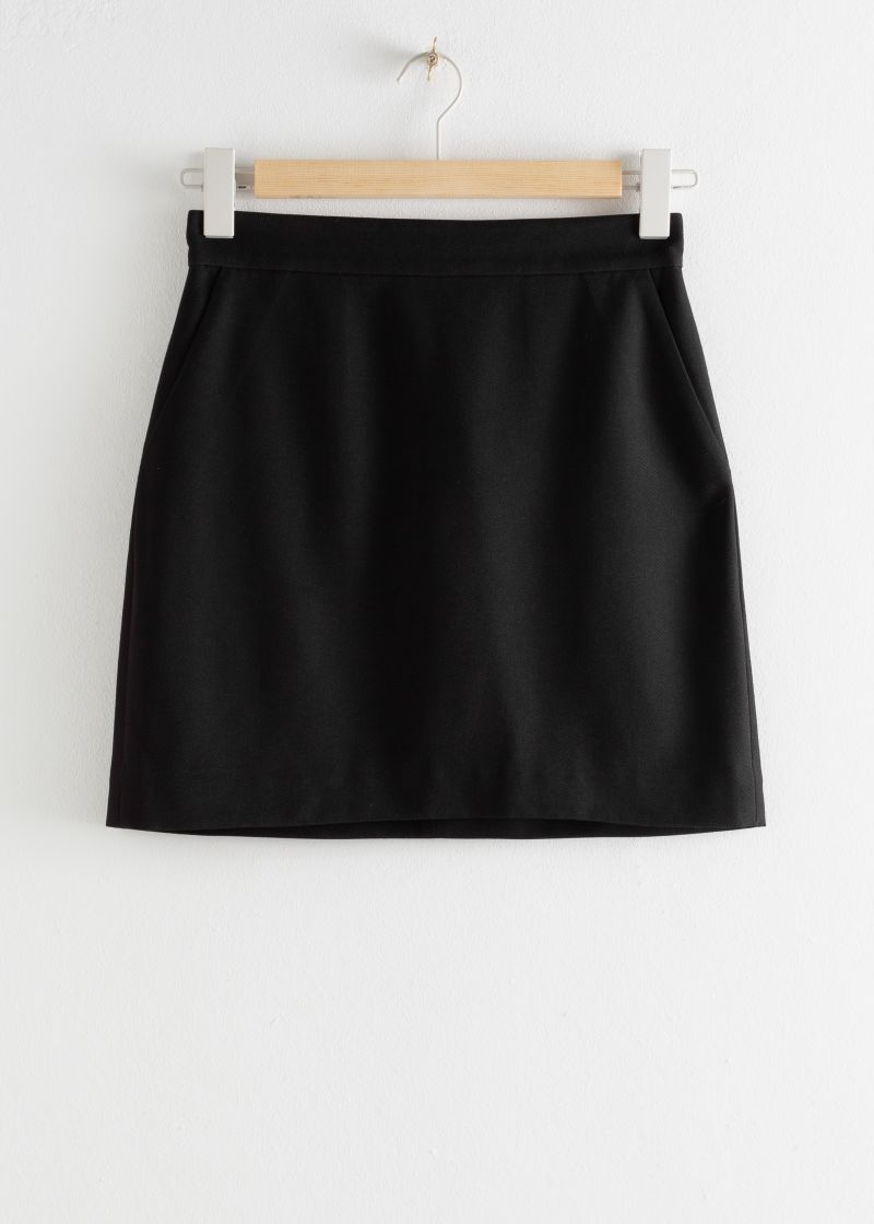Velvet Mini Pencil Skirt