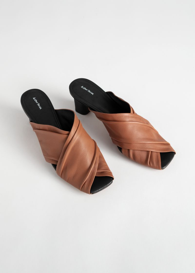 Criss Cross Soft Leather Mules