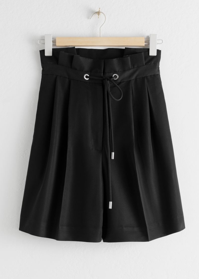 High Waisted Pleated Shorts