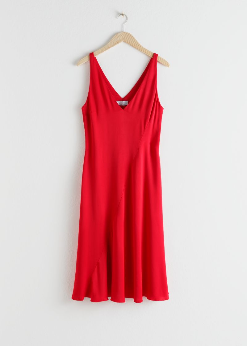 Sleeveless Bias Cut Midi Dress