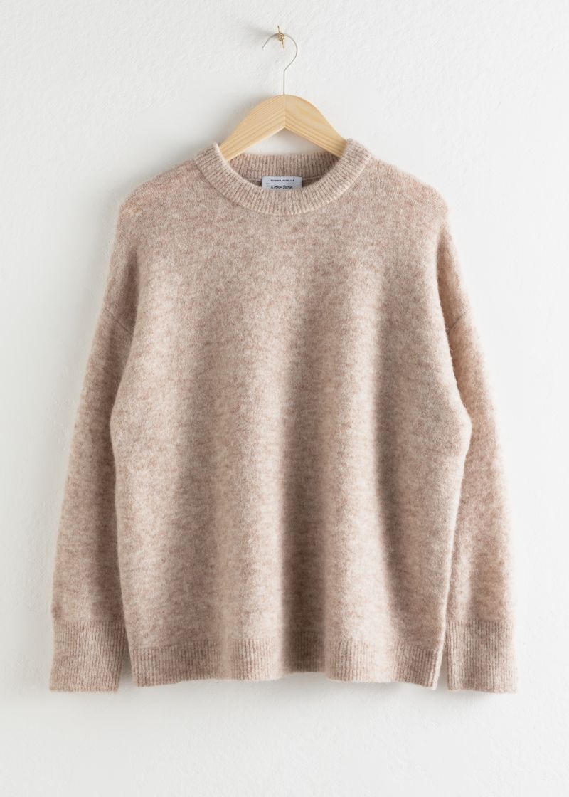 Oversized Alpaca Blend Relaxed Sweater