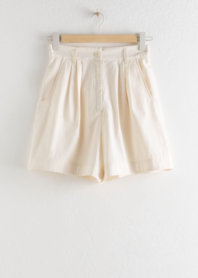 Cotton Lyocell Blend Shorts