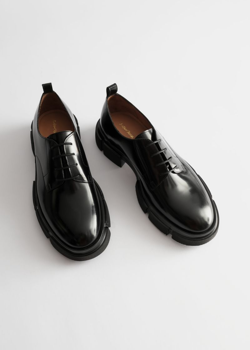 Technical Sole Leather Oxfords