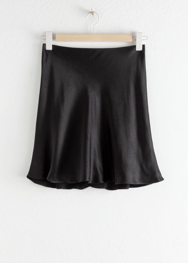 Satin Mini Skirt