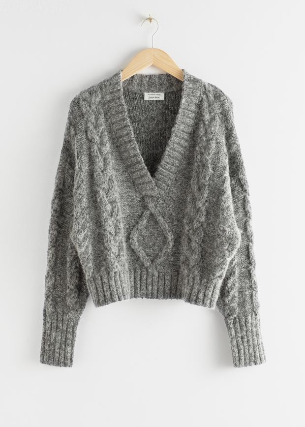 Oversized Cable Knit Sweater