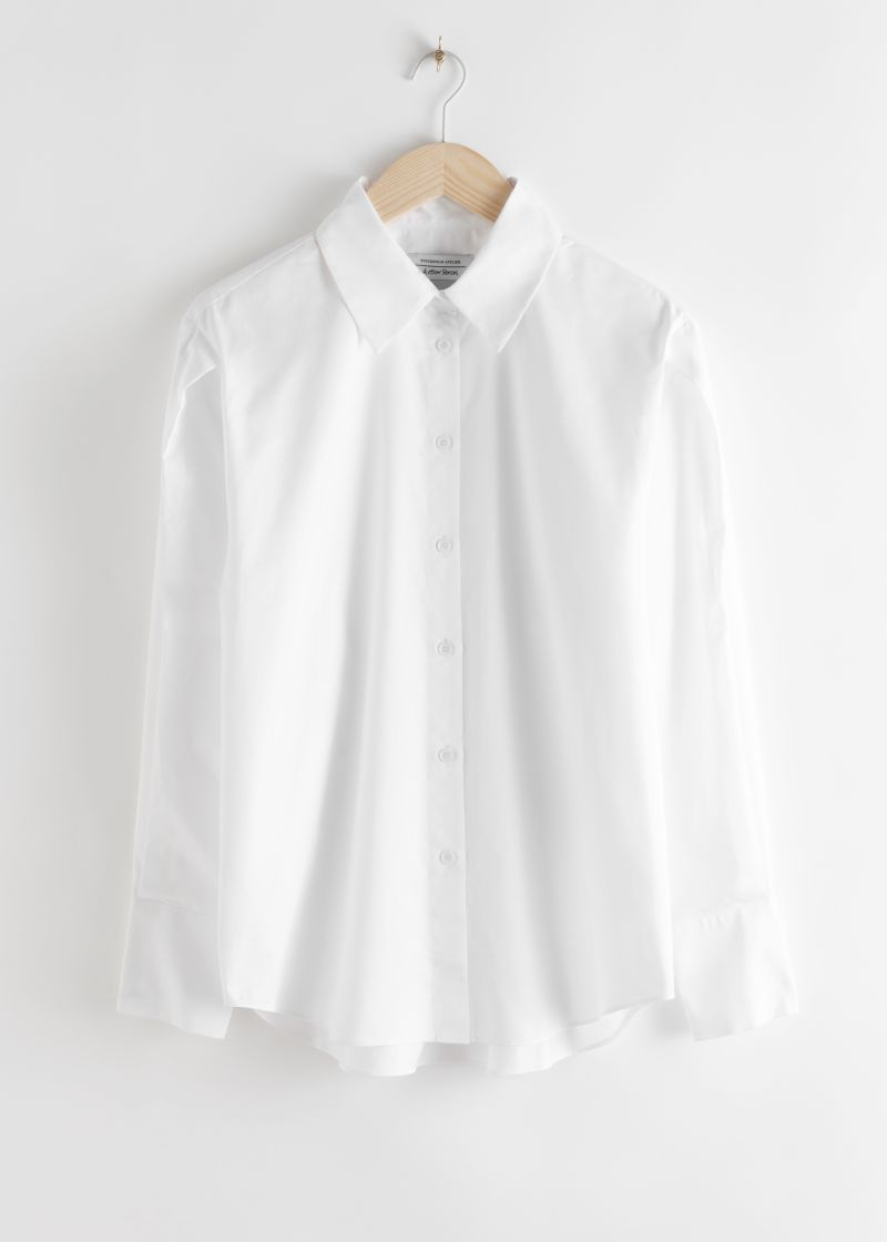 Pleated Shoulder Cotton Shirt