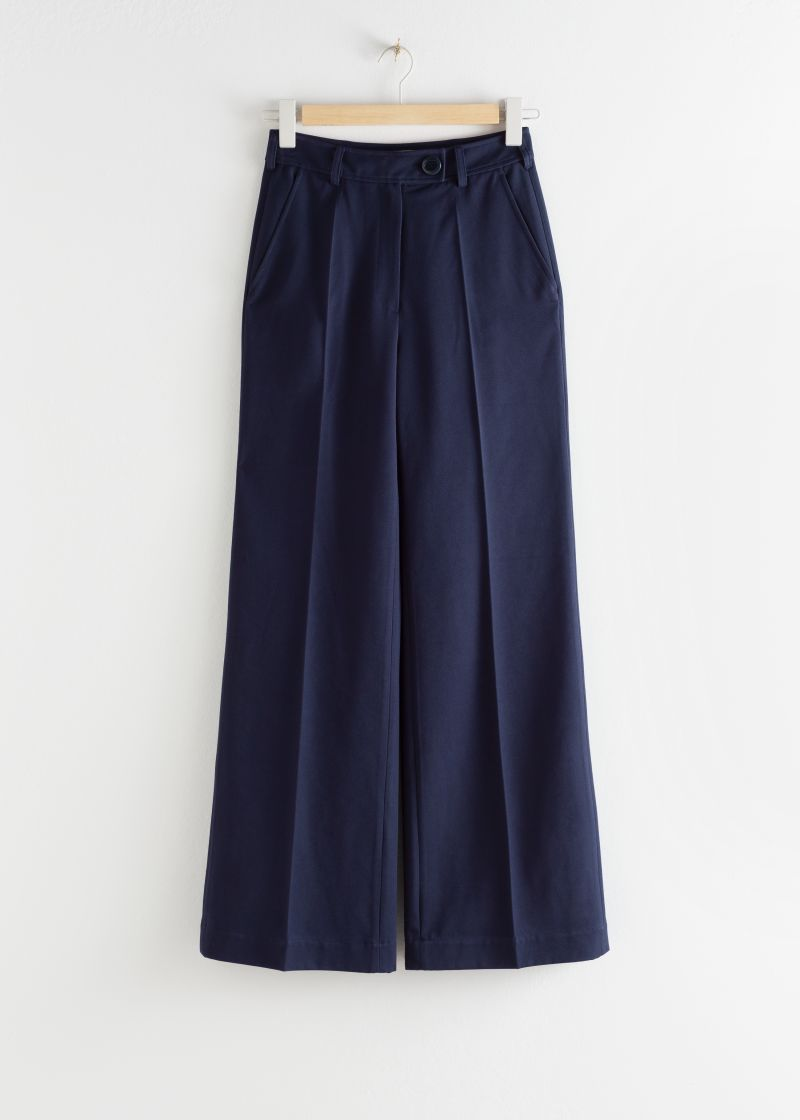 Tailored Twill Flare Trousers