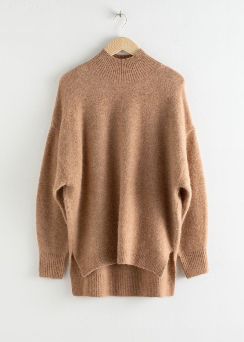 Oversized Mock Neck Sweater