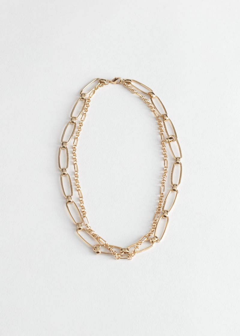 Duo Chunky Chain Necklace