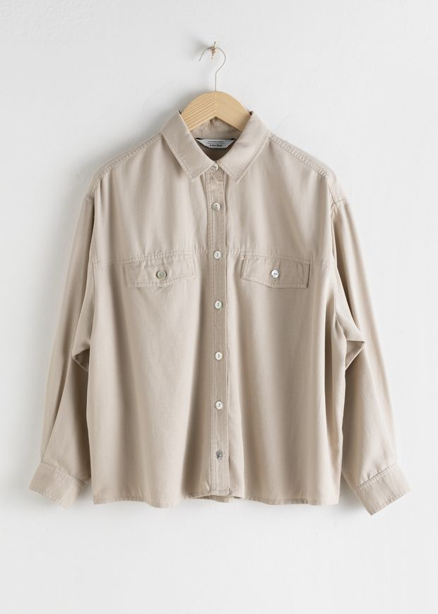 Twill Patch Pocket Lyocell Shirt
