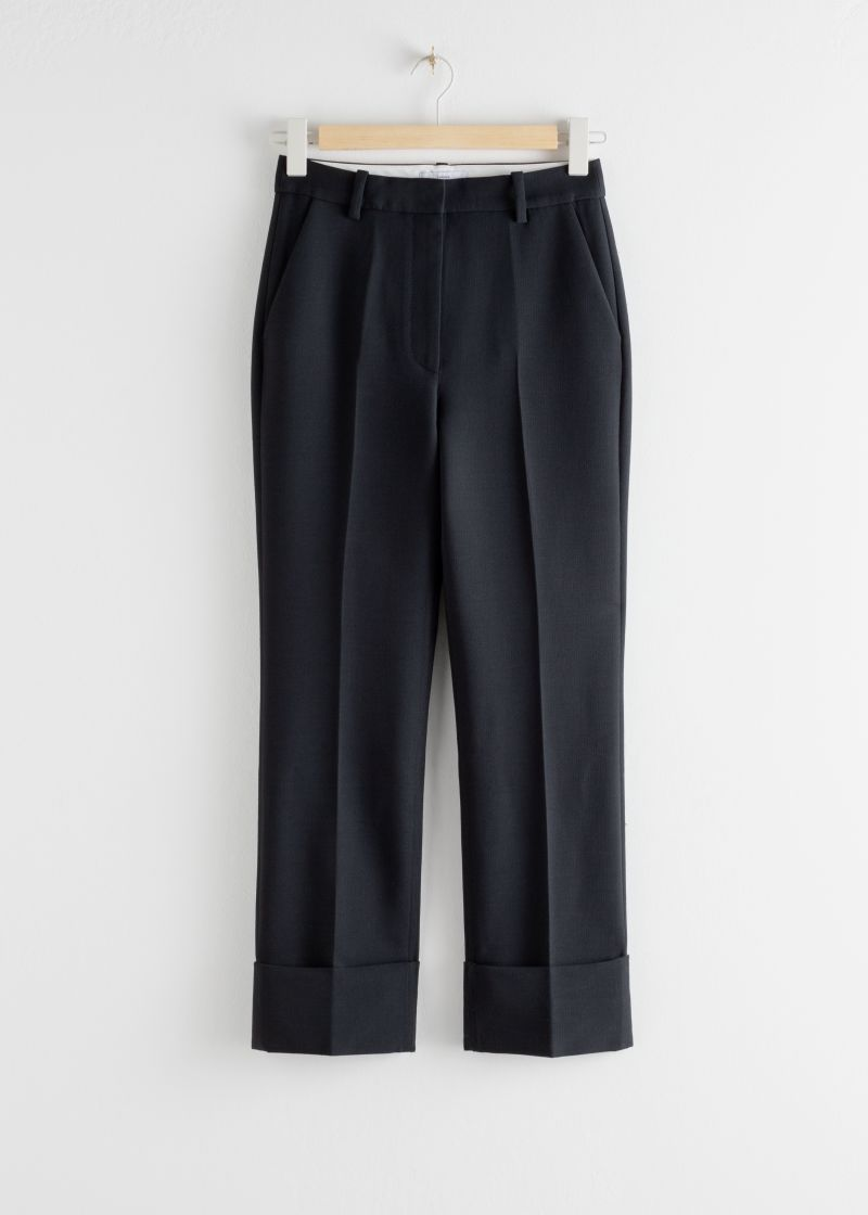 Tailored Cuffed Hem Trousers