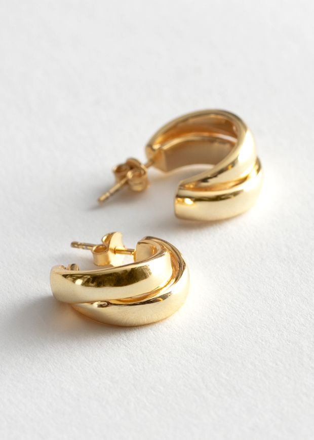 Chunky Layered Open Hoop Earrings
