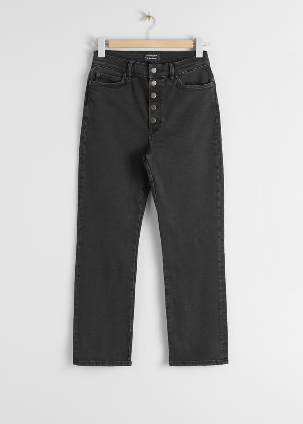 High Rise Organic Cotton Blend Jeans