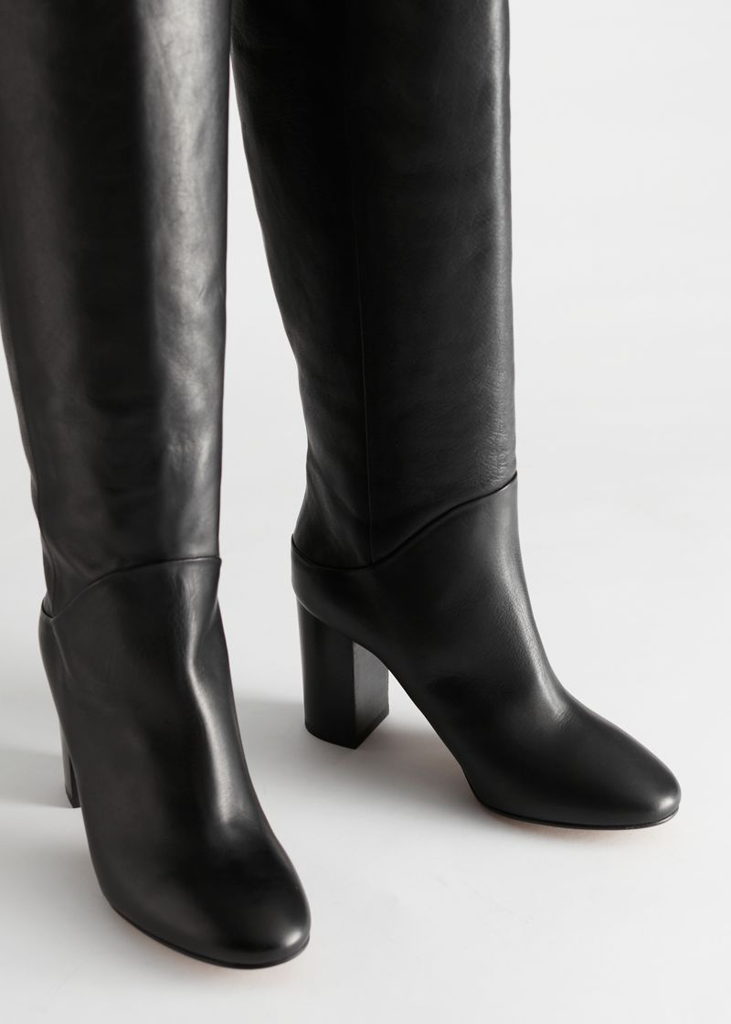 Chrome Free Tanned Leather Knee High Boots