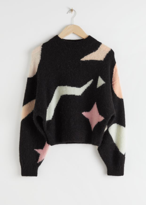 Geometric Colour Block Sweater
