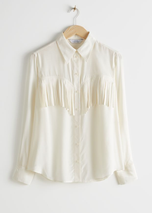 Button Up Fringe Shirt