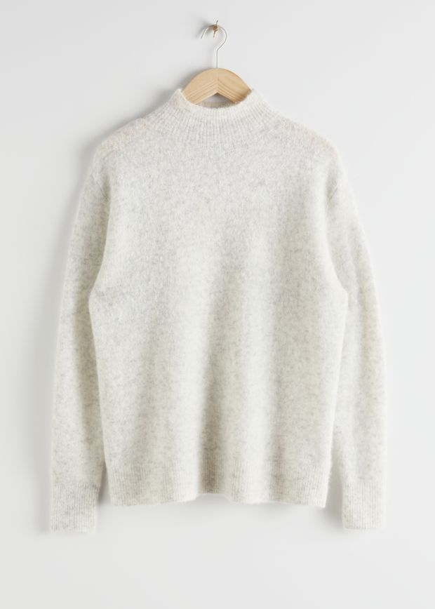 Relaxed Mock Neck Sweater