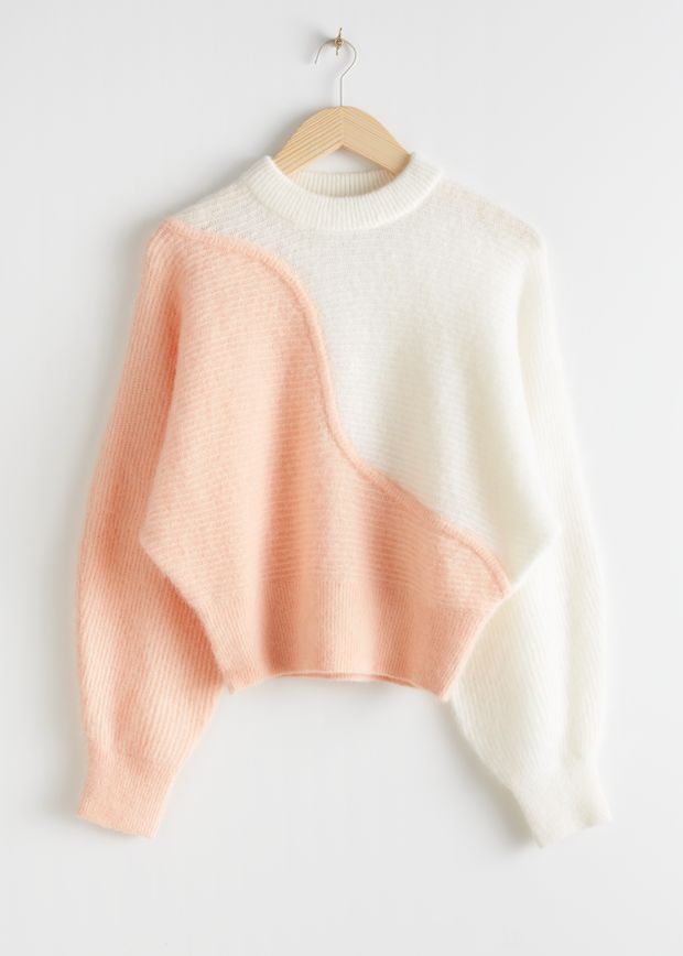 Colour Block Wave Sweater