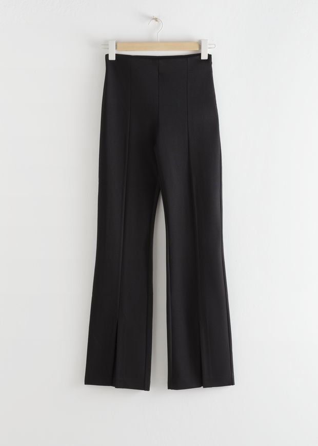 Front Split Tapered Trousers