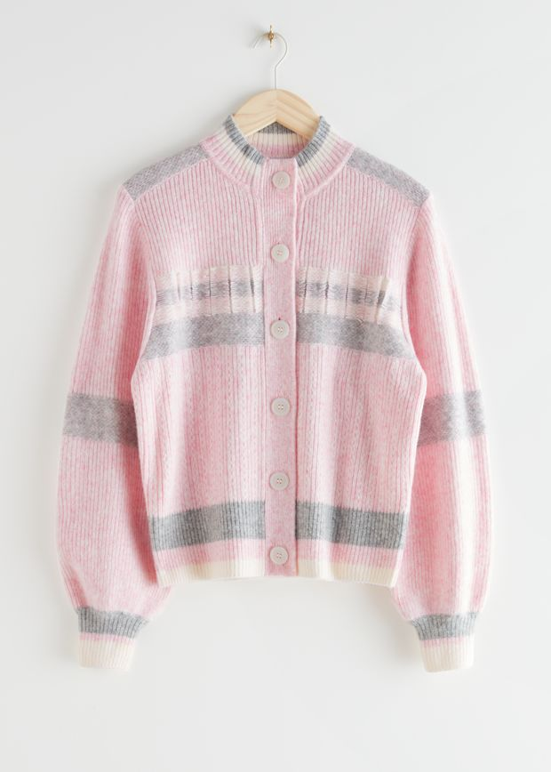 Relaxed Ribbed Cardigan