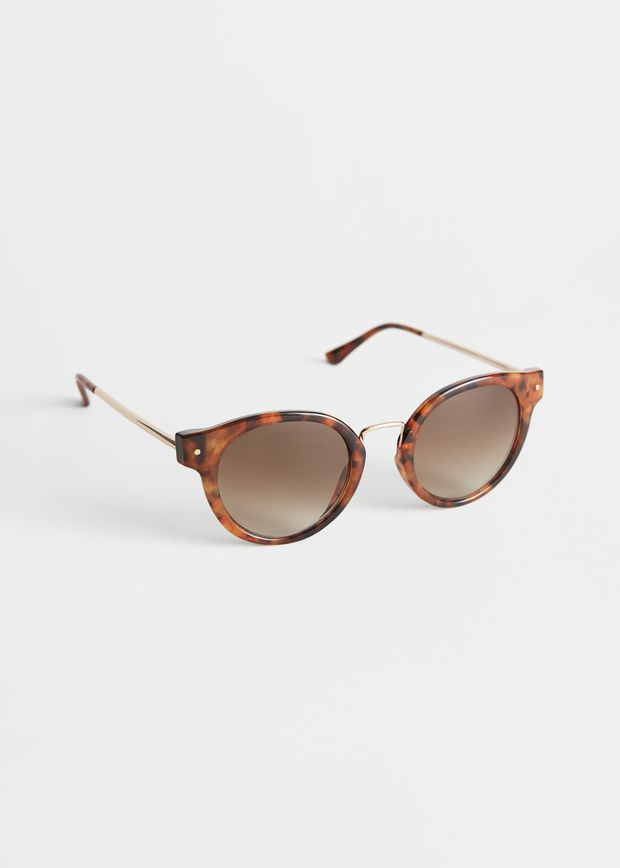Rounded Gold Bridge Sunglasses