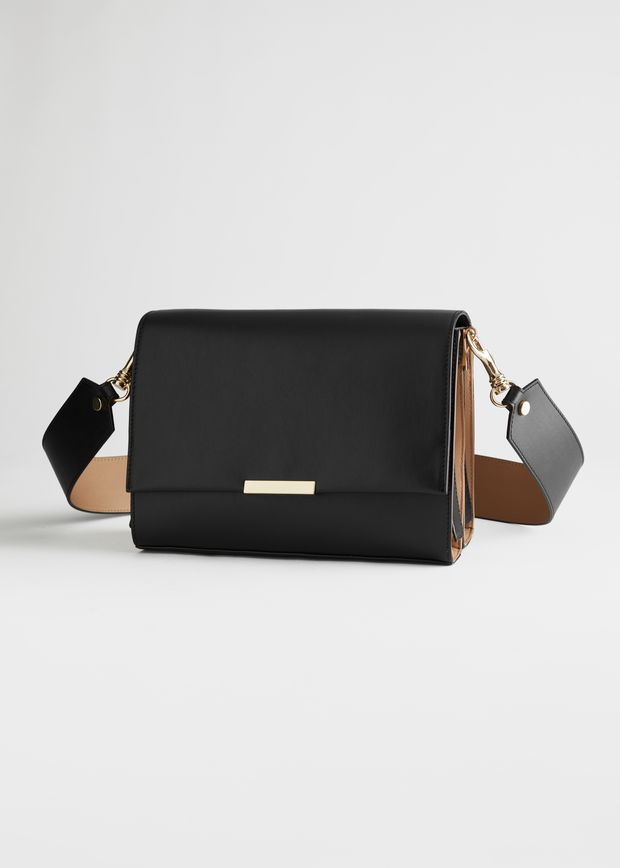 Duo Tone Leather Crossbody Bag