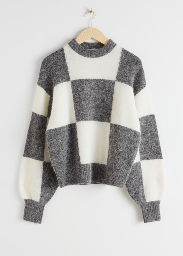 Alpaca Blend Jacquard Colour Block Jumper