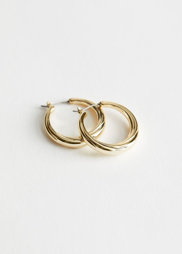 Curved Hoop Earrings