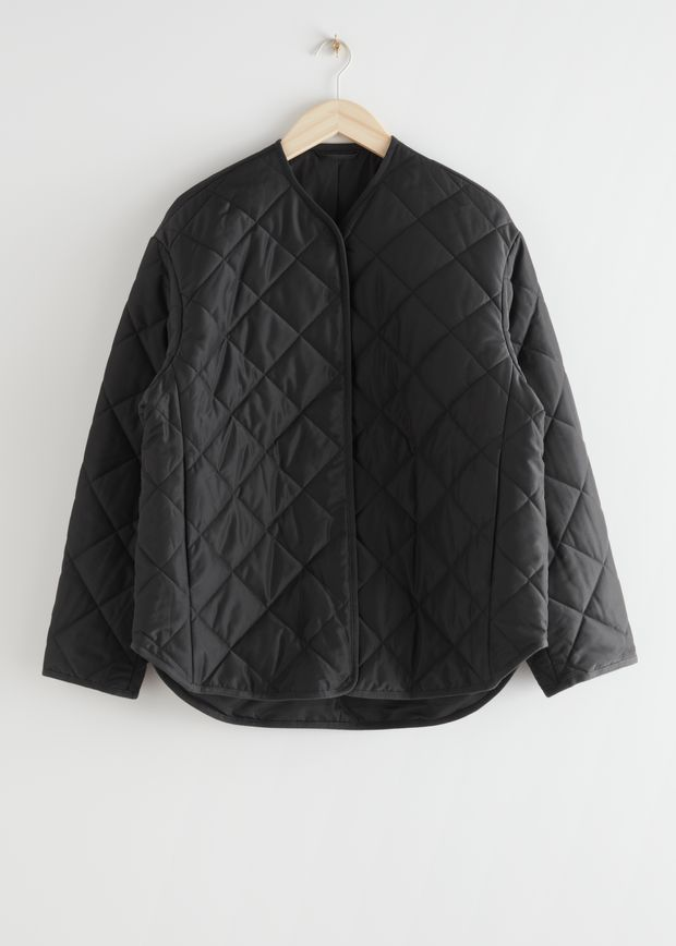Double Breasted Quilted Jacket